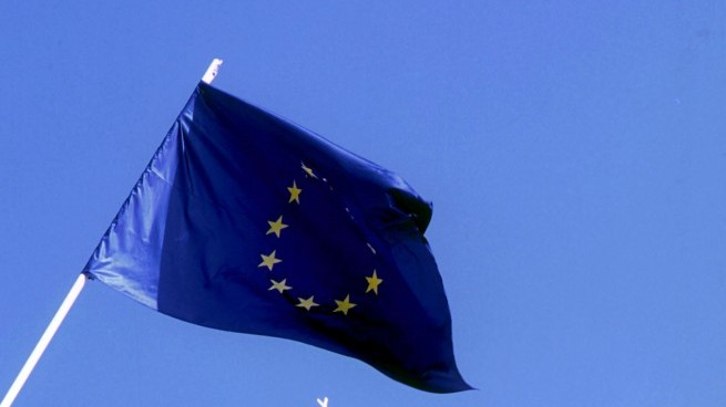 The European Union flag (Photo by Serge Attal/Flash 90)