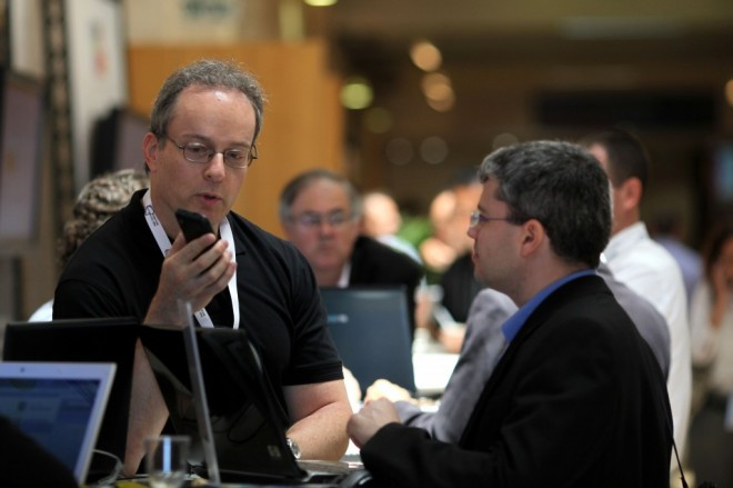 The High Tech Industry Association (HTIA) convention in Jerusalem, June 2011 (photo credit: Kobi Gideon/Flash90)