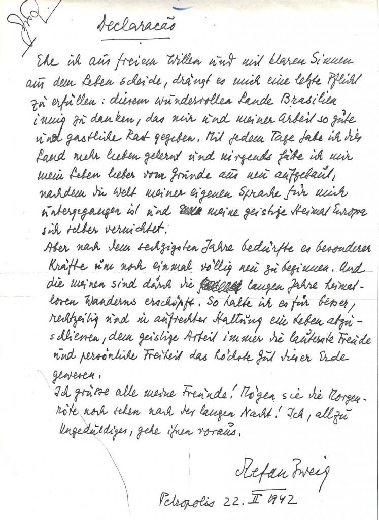 Suicide Notes: 70 Years Later, A Handwritten Note Recalls The End Of A