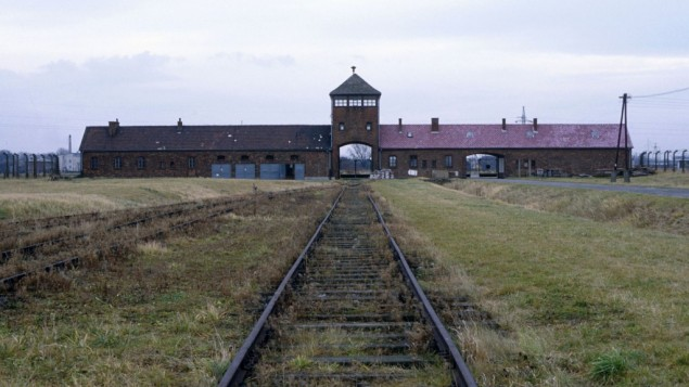 The entrance to the Auschwitz-Birkenau camp in Poland. (photo credit: Serge Attal/Flash 90)