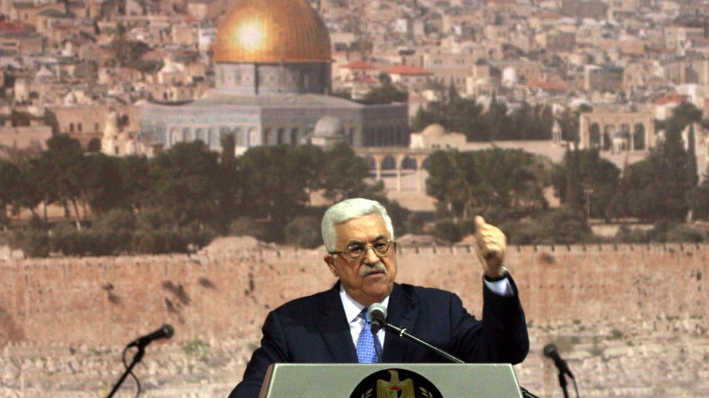 No legitimate attachment to Jerusalem. Mahmoud Abbas (photo credit: Issam Rimawi/Flash90)