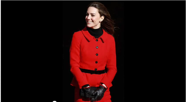 Coat fashions of Princess Kate (photo credit: screenshot, josephinepierre1, YouTube.com)