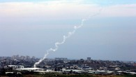 File photo of rocket fire from the Gaza Strip (photo credit: Edi Israel/Flash90)