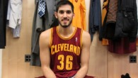 Double chai. Omri Casspi wearing number 36 for the Cleveland Cavaliers. (Photo credit: Howard Blas)
