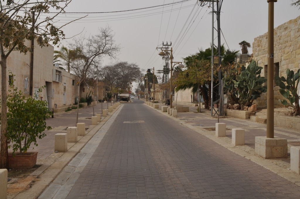 A still deserted Old City street in Beersheba (photo credit: Jen Klor)