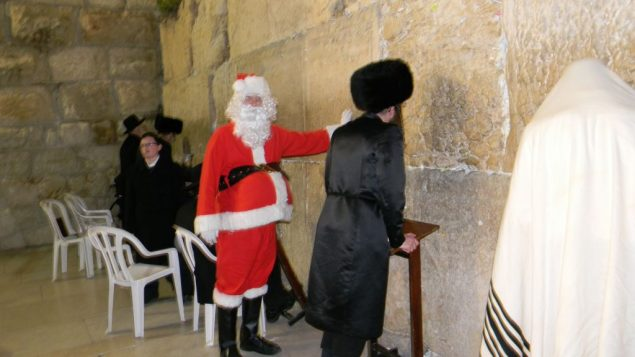 This Purim reveler is making a list and checking it twice.