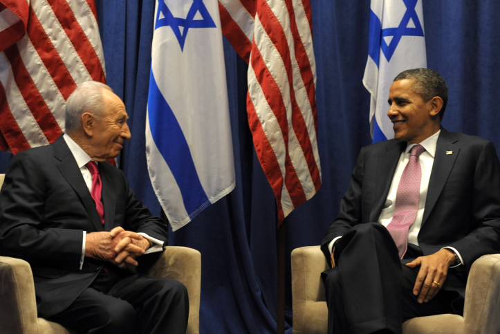 President Shimon Peres and President Barak Obama in Washington on Sunday (photo credit: Moshe Milner/GPO/flash90)