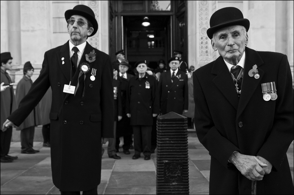 Annual parade of the Association of Jewish Ex-Servicemen (AJEX) at Whitehall, London 2009  (photo credit: Judah Passow, London Jewish Museum)