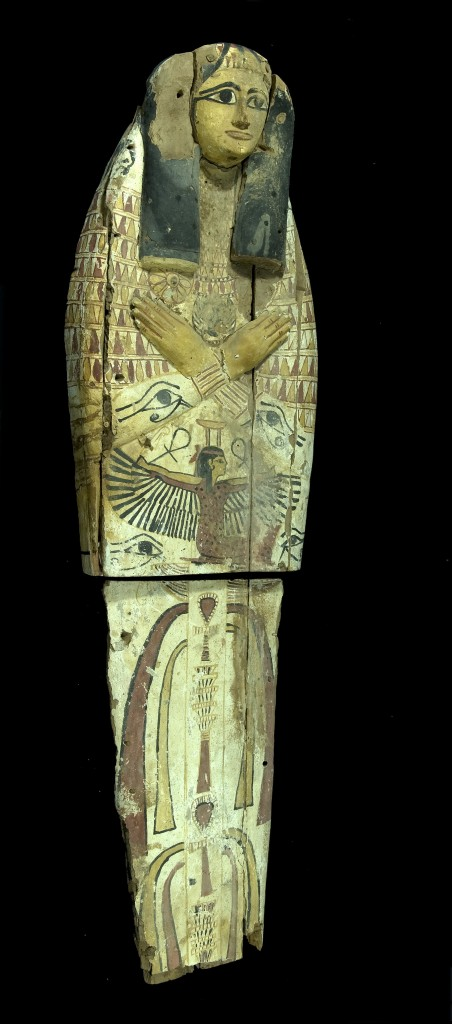This Egyptian sarcophagus was cut in half to facilitate smuggling (photo credit: Courtesy Israel Antiquities Authority)