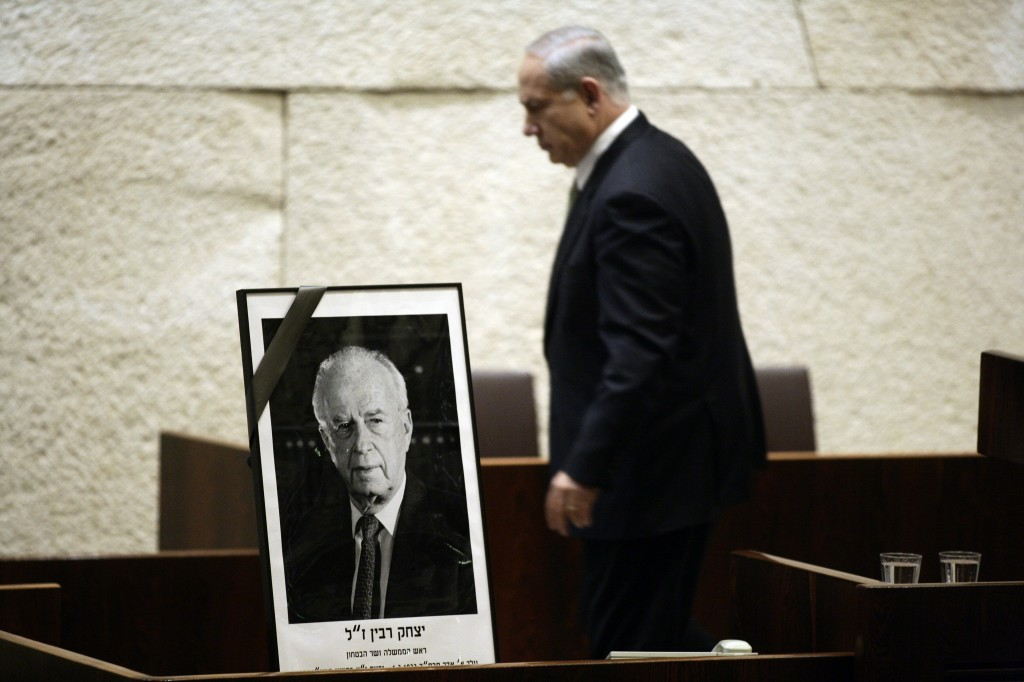 Policies that 'do not differ materially from those of Rabin.' Benjamin Netanyahu (photo credit: Abir Sultan/Flash90)