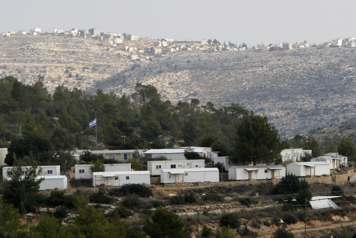 The West Bank settlement of Halamish (photo credit: Miriam Alster/Flash90)