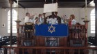 Jamaican converts in Kingston's Shaare Shalom Synagogue (photo credit: Courtesy)