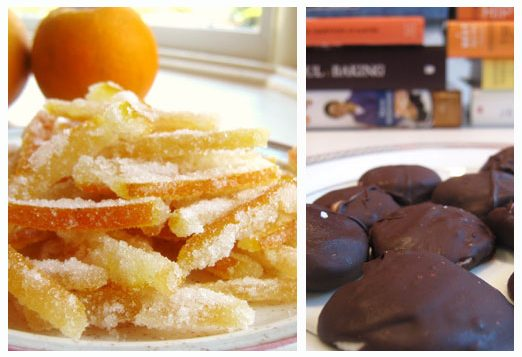 Candied orange peel and peppermint patties. Photos by Amy Spiro