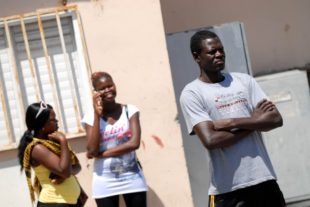 African migrants in South Tel Aviv (photo credit: Tomer Neuberg/Flash90)