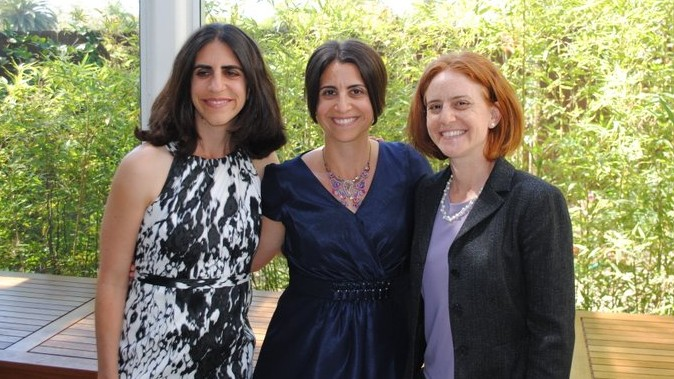 At Ilana's ordination, from left to right: Jordana Chernow-Reader, Ilana Mills, and Mari Chernow. (photo credit: Arlene Chernow)