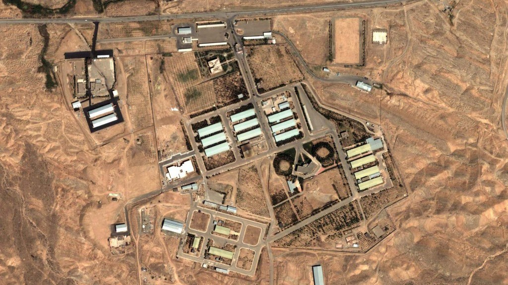 Satellite image of the Parchin facility in April (photo credit: Institute for Science and International Security/AP)