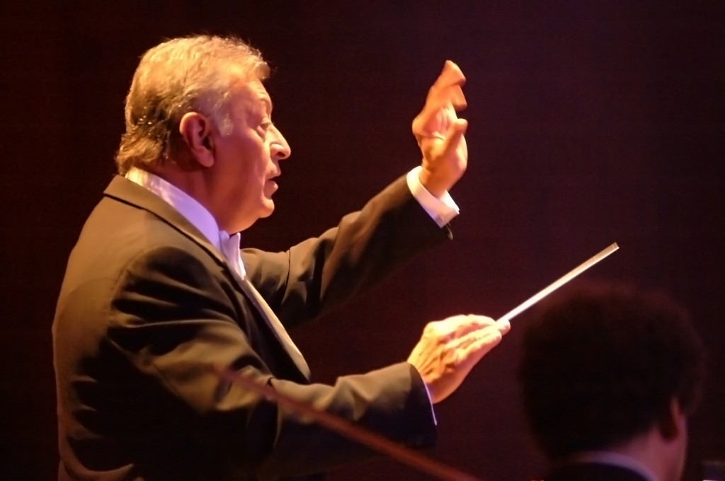 Israel Philharmonic Orchestra conductor Zubin Mehta. (Photo credit: Jorge Novomisky/Flash90)