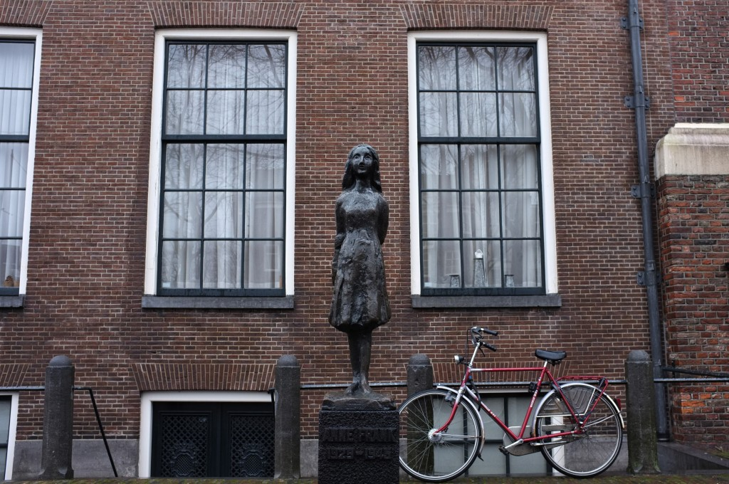 View of the Anne Frank house in Amsterdam  Holland  where Anne and her    Anne Frank House Amsterdam