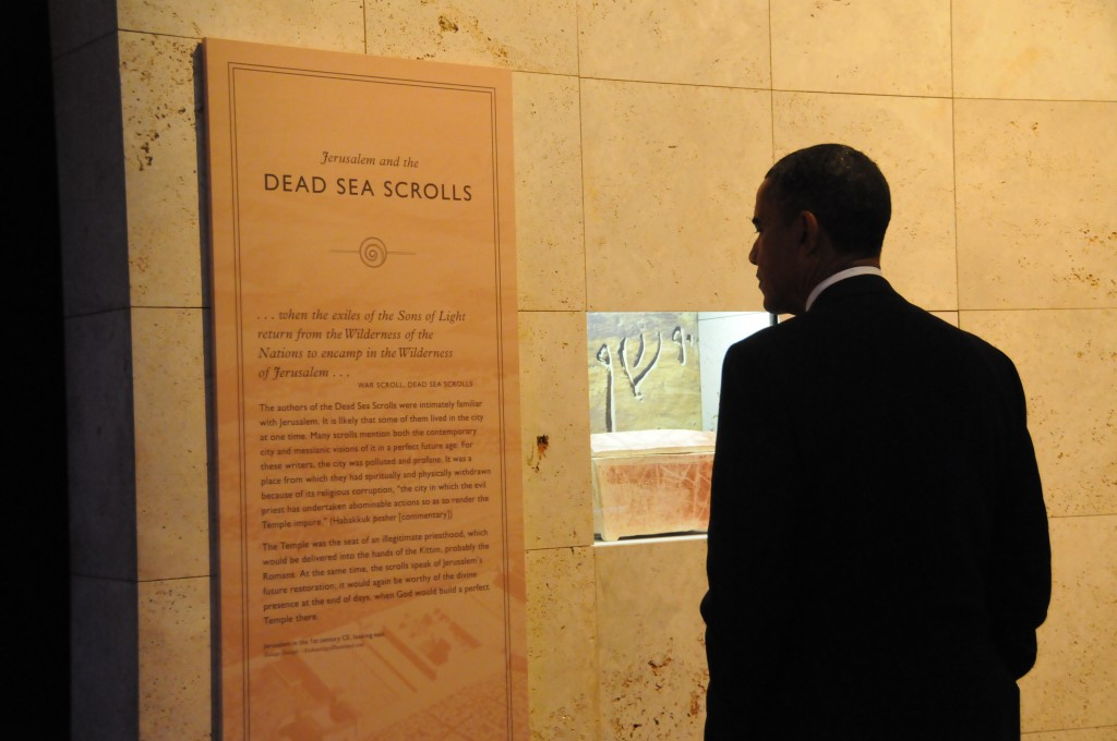 Barack Obama pays visit to Dead Sea Scrolls exhibit | The ...