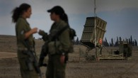 Female soldiers stationed at the Iron Dome anti-rocket unit, August 2011 (photo credit: Tsafrir Abayov/Flash90)