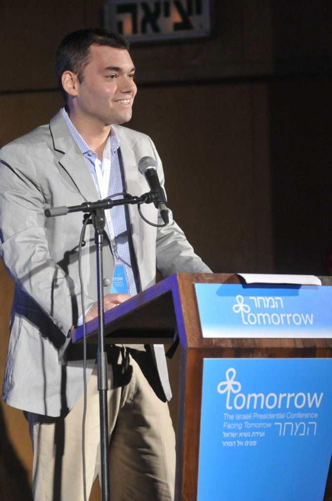 A mensch. Peter Beinart speaks at the 2012 Presidential Conference (photo credit: Courtesy of Shilo Productions)