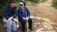 An elderly couple takes a walk in the Jerusalem forest (illustrative photo credit: Miriam Alster/Flash90)