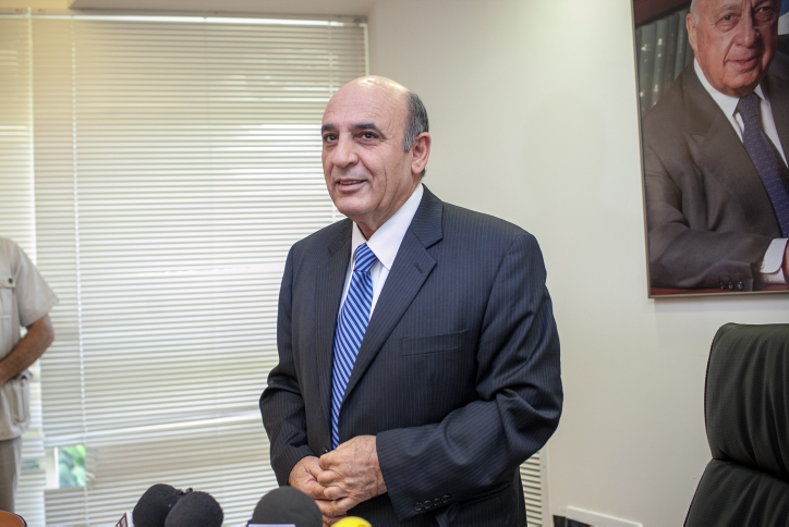 Kadima chairman Shaul Mofaz arrives to a press conference at the Knesset on Monday, July 23 (photo credit: Noam Moskowitz/Flash90)