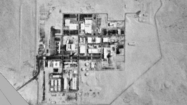 The Dimona nuclear reactor as viewed from satellite (photo credit: courtesy of United States Government)