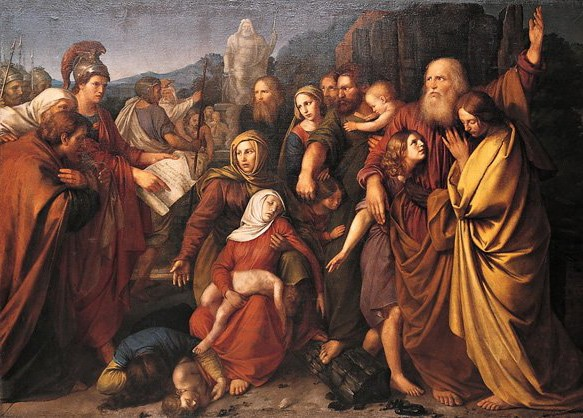 The Maccabees, as depicted by the Polish artist Wojciech Stattler (1800–1875) (photo credit: CCBY Wikipedia)