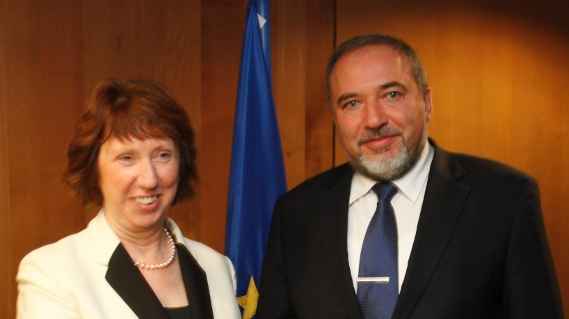 'The EU needs to obsess less about Israeli concessions.' EU foreign policy chief Catherine Ashton and Foreign Minister Avigdor Liberman (photo credit: Gaby Farkas)