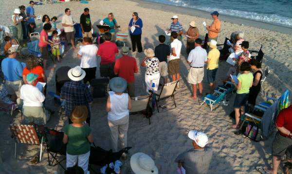 Shabbat on the beach, 2012.