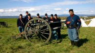 Jeffrey Cohen, right, with fellow members of the 6th New York Independent Battery Civil War reenactors. (photo credit: Robert Fagan)