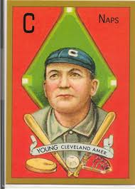 A vintage Cy Young baseball card.