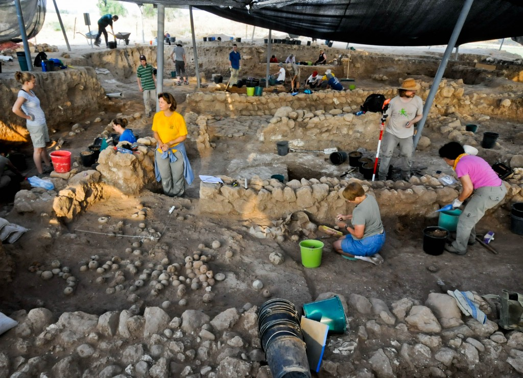 "The accumulation of small and unspectacular finds, dig leader Aren Maeir says, ""is actually the main thing."" (photo credit: Courtesy of the Tell es-Safi/Gath Archaeological Project)"
