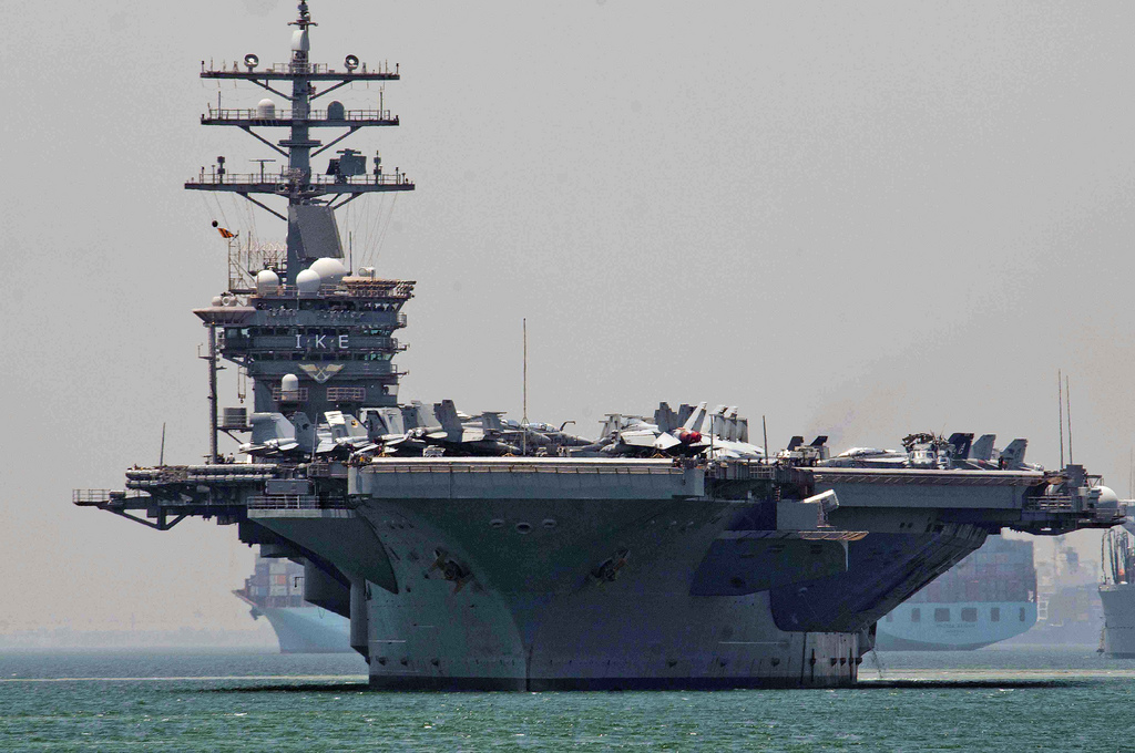 2nd US carrier nears Med to bolster operations