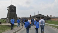 Visitors walk the grounds of Majdanek, where more than 75,000 prisoners were murdered during the Holocaust. (Photo credit: Yossi Zeliger/Flash90)