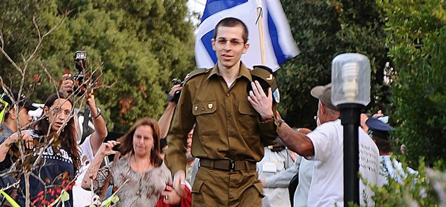 After more than five years in captivity, Gilad Shalit enters his home in Mitzpeh Ela on October 18, 2011. (IDF Spokesperson/FLASH90)