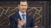 Bashar Assad at the parliament in Damascus in June (photo credit: AP/SANA)