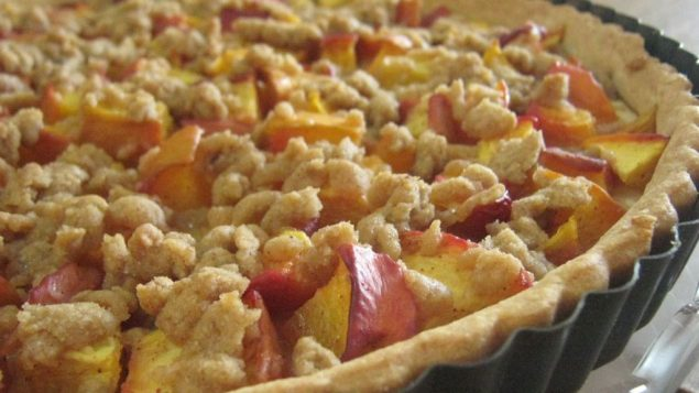 Nectarine Crumb Tart. Photo by Amy Spiro