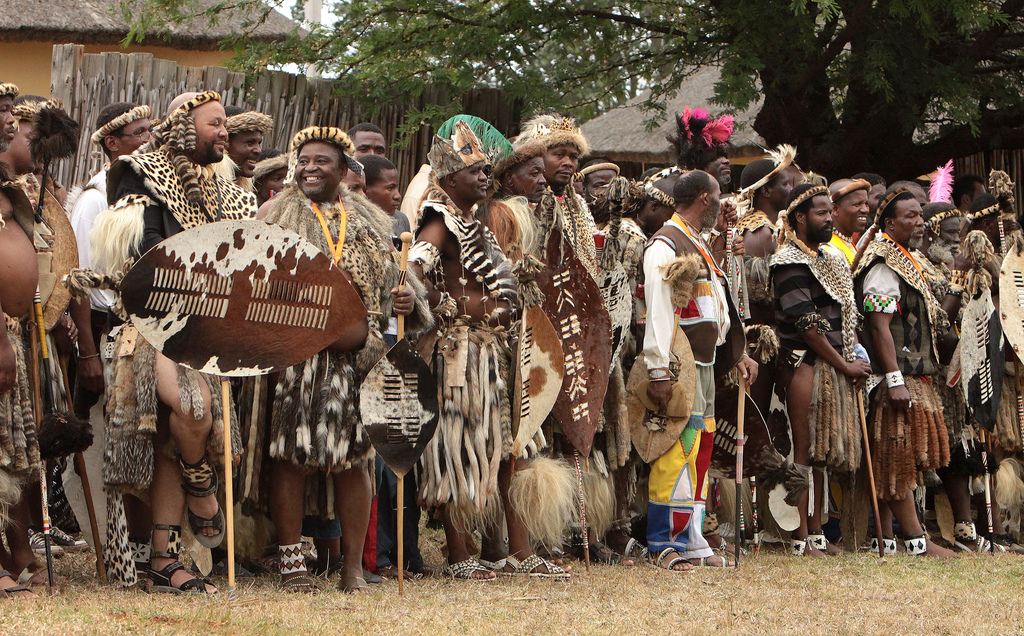 The Zulu nation s annual Royal Reed Dance festival  photo credit  CC    Zulu Tribe