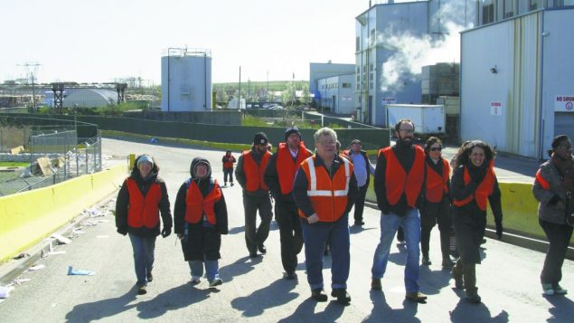 Greening Fellows during a field trip to a Staten Island paper recycling plant.