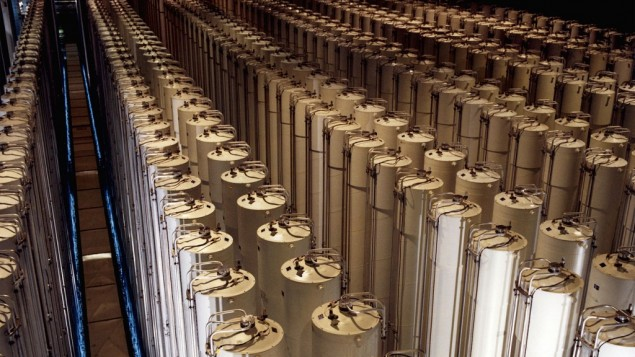 American centrifuges enriching uranium (Photo credit: US Department of Energy/ Wikimedia Commons)