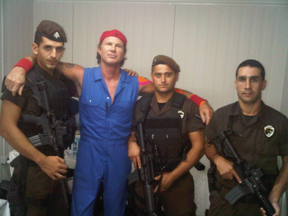 Red Hot Chili Peppers drummer Chad Smith in Beirut (Courtesy Facebook page)