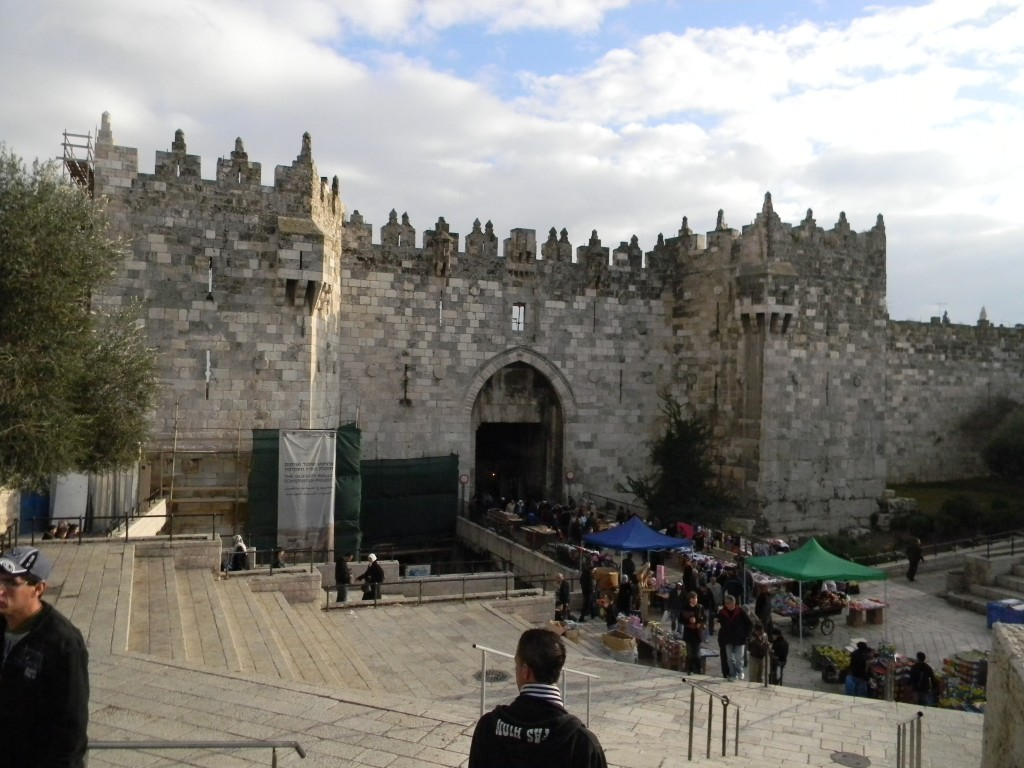 Damascus Gate, on the Old City's northern side, before the recent restoration...