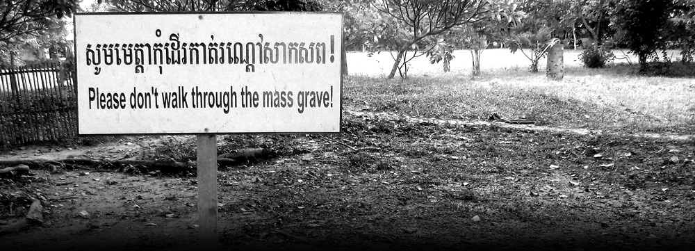The site of a mass grave in Cambodia (Photo credit: Courtesy: International Association of Genocide Scholars)