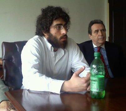 Ehud Halevy with his lawyer, Norman Siegel.
