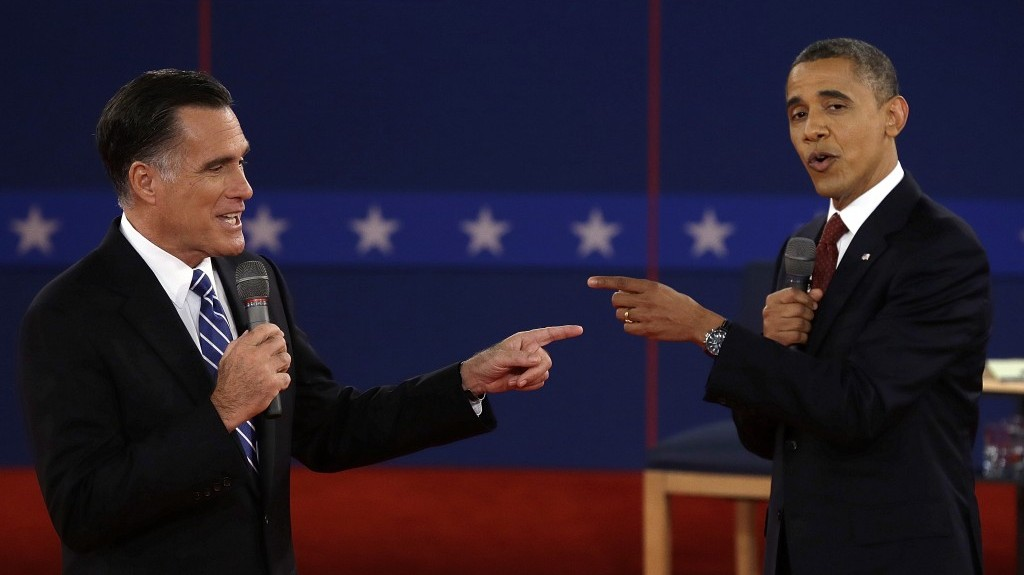 It's the plausibility, stupid. Obama and Romney face off on Tuesday night (photo credit: AP Photo/Charlie Neibergall)