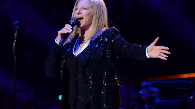 Singer Barbra Streisand kicks off her concerts at the Barclays Center in the Brooklyn borough of New York, on Thursday Oct. 11, 2012 (photo credit: Evan Agostini/Invision/AP)