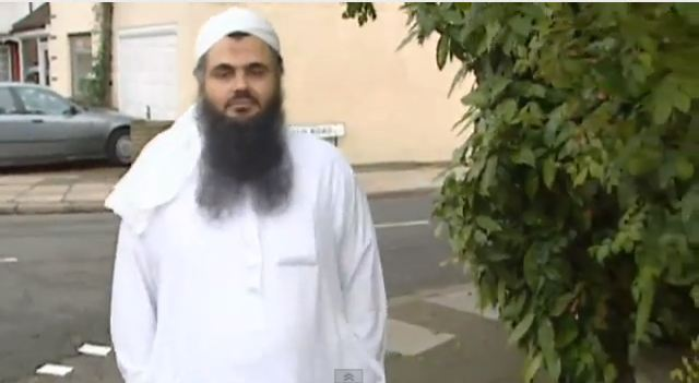 Radical Islamic cleric Abu Qatada, in 2001. (screencapture: youtube/ITN News)