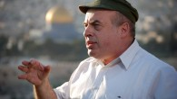 Jewish Agency chairman Natan Sharansky watches over the Old City of Jerusalem (photo credit: Oren Fixler/Flash90)